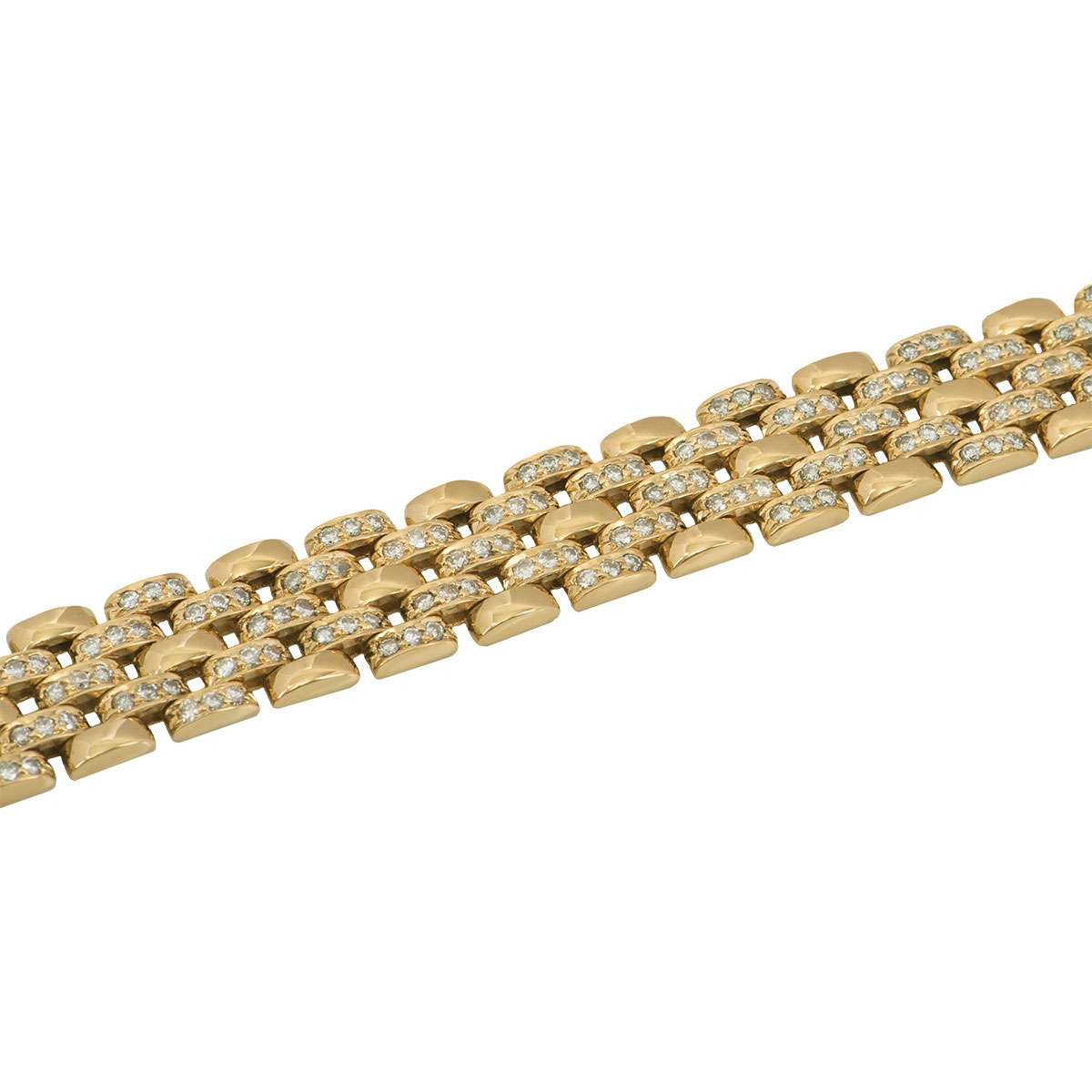 Yellow Gold Diamond Link Bracelet 5.04ct